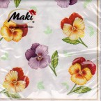 Luncheon Napkin Pansies