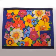 Beautiful Handmade Placemat Blue Mix Flower